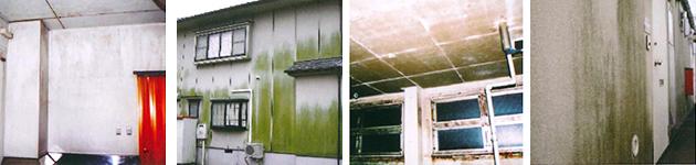防カビ・伸びる塗料・超低汚染・耐熱
